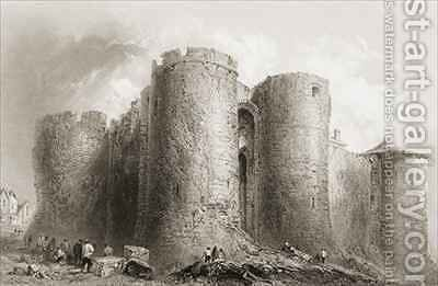 King John's Castle, Limerick, Ireland by (after) Bartlett, William Henry - Reproduction Oil Painting