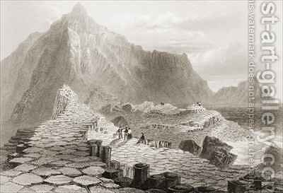 The Giant's Causeway, County Antrim, Ireland by (after) Bartlett, William Henry - Reproduction Oil Painting