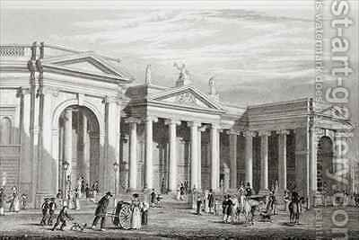 The Bank of Ireland, Dublin by (after) Bartlett, William Henry - Reproduction Oil Painting