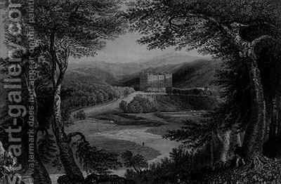 View of Drumlanrig Castle, Dumfrieshire by (after) Bartlett, William Henry - Reproduction Oil Painting