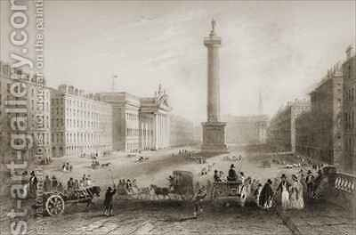 Sackville Street (now O'Connell Street), Dublin by (after) Bartlett, William Henry - Reproduction Oil Painting