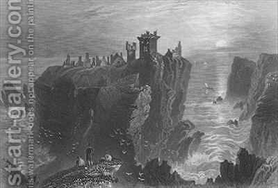 View of Dunottar Castle, near Stonehaven by (after) Bartlett, William Henry - Reproduction Oil Painting