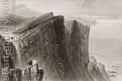 Fairhead, County Antrim, Northern Ireland by (after) Bartlett, William Henry - Reproduction Oil Painting