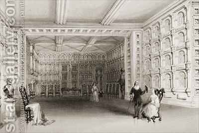 The Oak Room, Malahide Castle, County Dublin, Ireland by (after) Bartlett, William Henry - Reproduction Oil Painting