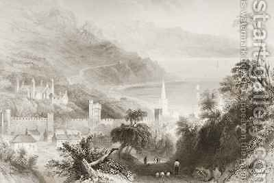 Glenarm, County Antrim, Northern Ireland by (after) Bartlett, William Henry - Reproduction Oil Painting