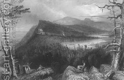 The Two Lakes and the Mountain House on the Catskills by (after) Bartlett, William Henry - Reproduction Oil Painting