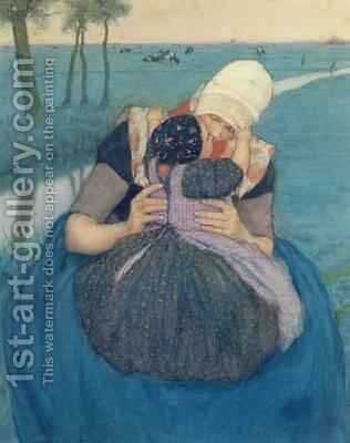 Mother and Child by Charles William Bartlett - Reproduction Oil Painting