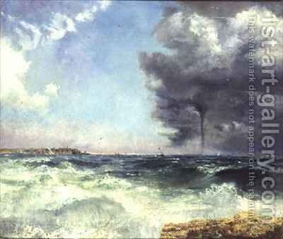 A Stormy Crossing by Charles William Bartlett - Reproduction Oil Painting