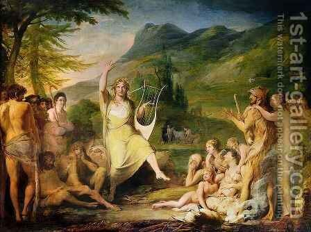 Orpheus, first in series of 'The Progress of Human Culture and Knowledge' by James Barry - Reproduction Oil Painting