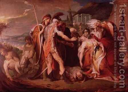 King Lear Weeps over the Body of Cordelia by James Barry - Reproduction Oil Painting
