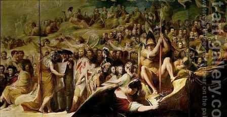 Elysium, or the State of Final Retribution, sixth in the series 'The Progress of Human Culture and Knowledge' by James Barry - Reproduction Oil Painting