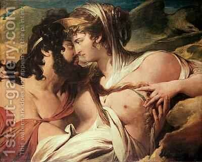 Jupiter and Juno on Mount Ida by James Barry - Reproduction Oil Painting