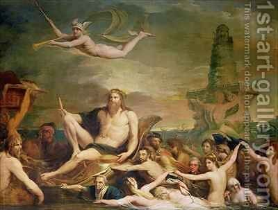 Commerce, or the Triumph of the Thames, fourth in the series 'The Progress of Human Culture and Knowledge' by James Barry - Reproduction Oil Painting