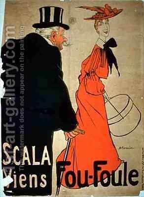 Poster advertising 'Viens Fou-Foule' at the Scala, Paris by Adrien Barrere - Reproduction Oil Painting