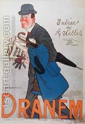 Poster depicting Dranem (1869-1935) by Adrien Barrere - Reproduction Oil Painting