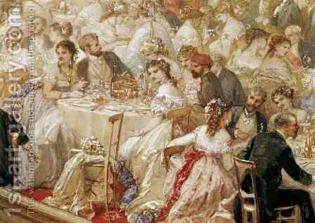 Dinner at the Tuileries by Henri Baron - Reproduction Oil Painting