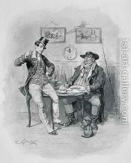 The Two Wellers, from 'The Pickwick Papers' by (after) Barnard, Frederick - Reproduction Oil Painting