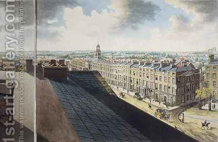 Panoramic view of London by (after) Barker, Robert - Reproduction Oil Painting