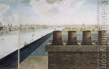 Panoramic view of London 3 by (after) Barker, Robert - Reproduction Oil Painting