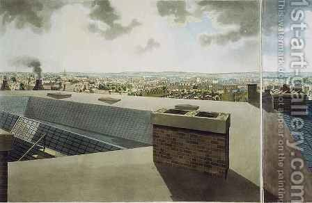 Panoramic view of London 4 by (after) Barker, Robert - Reproduction Oil Painting