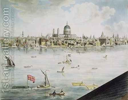 Panoramic view of London 5 by (after) Barker, Robert - Reproduction Oil Painting