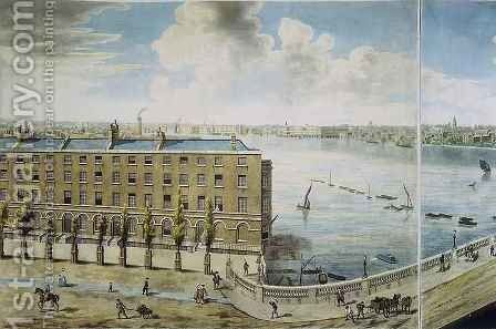 Panoramic view of London 6 by (after) Barker, Robert - Reproduction Oil Painting