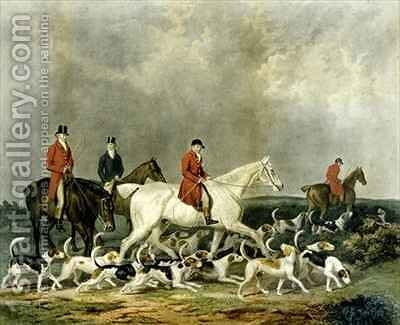 The Earl of Derby's Stag Hounds by (after) James Barenger - Reproduction Oil Painting