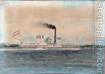 Steamboat 'Columbus' by James and John Bard - Reproduction Oil Painting
