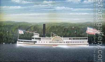 Steamboat 'Sylvan Grove' by James Bard - Reproduction Oil Painting
