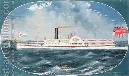 Steamboat 'Reindeer' by James Bard - Reproduction Oil Painting