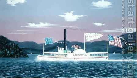 The Tugboat 'Oliver M. Pettit' by James Bard - Reproduction Oil Painting