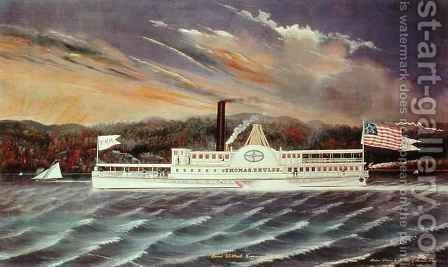 Steamboat 'Thomas E. Hulse' by James Bard - Reproduction Oil Painting