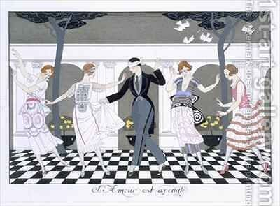 Love is Blind by (after) Barbier, Georges - Reproduction Oil Painting