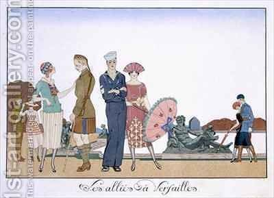 The Allies in Versailles by (after) Barbier, Georges - Reproduction Oil Painting