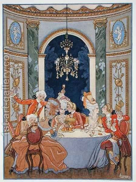 Illustration from 'Les Liaisons Dangereuses' by (after) Barbier, Georges - Reproduction Oil Painting