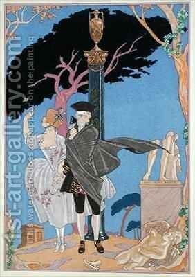 Broken Hearts, Broken Statues by (after) Barbier, Georges - Reproduction Oil Painting