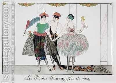 The Beautiful Savages by (after) Barbier, Georges - Reproduction Oil Painting