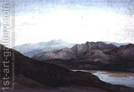 On the river Mawddach, Merionethshire, Cader Idris in the Distance by Charles Vincent Barber - Reproduction Oil Painting