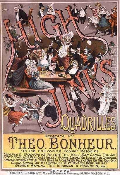 Front cover of the music score for 'High Jinks Quadrilles' by H. G. Banks - Reproduction Oil Painting