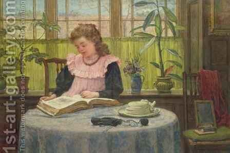 Reading by Elias Mollineaux Bancroft - Reproduction Oil Painting