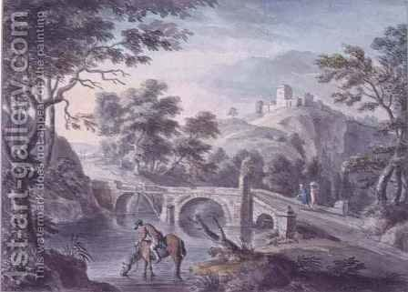 Landscape with Bridge by Coplestone Warre Bampfylde - Reproduction Oil Painting