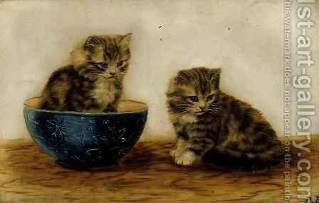 Felines at Play by Bessie Bamber - Reproduction Oil Painting