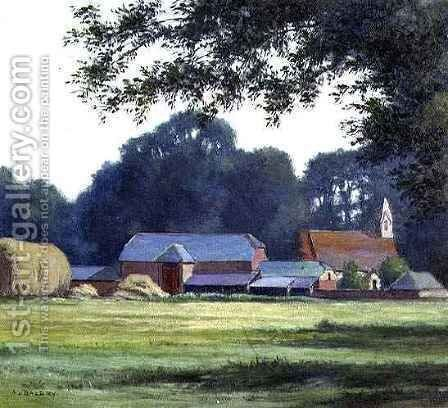 Farm at West Parley, Dorset by Alfred Lys Baldry - Reproduction Oil Painting