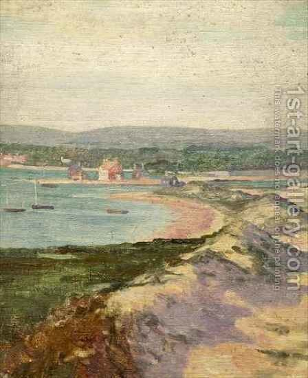 Mudeford from Hengistbury Head by Alfred Lys Baldry - Reproduction Oil Painting