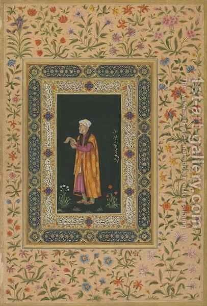 Portrait of Itimad Al-dawla, Mughal dynasty by Balchand - Reproduction Oil Painting