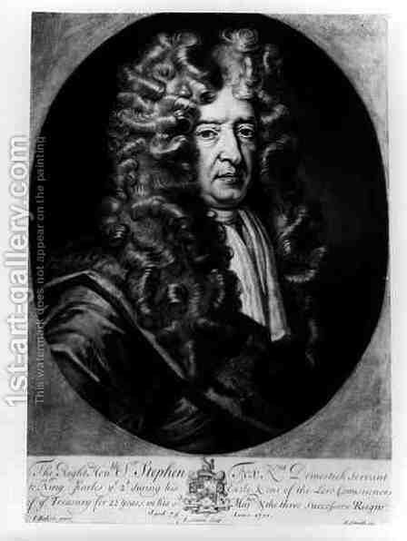 Sir Stephen Fox (1627-1716) aged 75 by (after) Baker, James - Reproduction Oil Painting