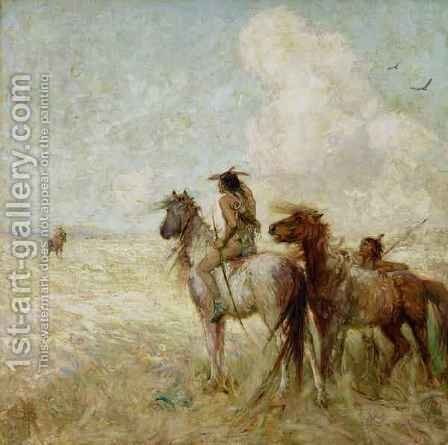 The Bison Hunters by Nathaniel Hughes John Baird - Reproduction Oil Painting