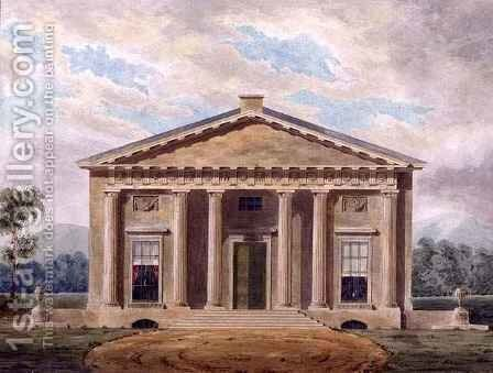 Design for a Neo-Classical Villa by Henry Bailey - Reproduction Oil Painting