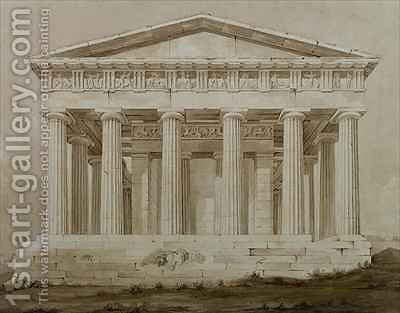 Temple of Hephaestus, Athens by Henry Bailey - Reproduction Oil Painting