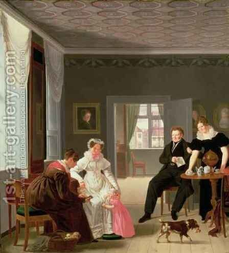 The Winther Family by Emilius Ditlev Baerentzen - Reproduction Oil Painting